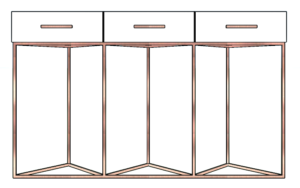 Console Table Rose Gold